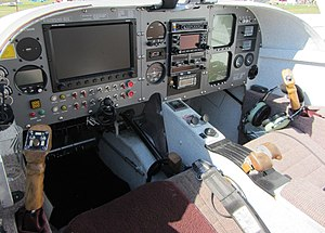 Rutan Defiant - An updated Defiant instrument panel with Dynon Avionics Skyview Efis
