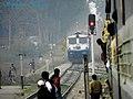 Dehradun-New Delhi Shatabdi Express comes rolling down the gradient at Harrawala station - Flickr - Dr. Santulan Mahanta.jpg