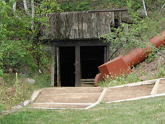 Keweenaw National Historical Park - Delaware Mine entrance