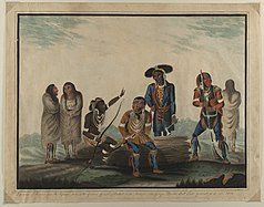 Deputation of Indians from the Mississippi Tribes to the Governor General of British North America, Sir George Prevost. Baronet. Lieut. General, (etc.) in 1814.jpg