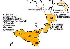 Mapo de siciliaj dialektoj