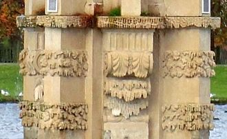 """Frostwork - Architectural """"frost-work"""" in carved stone, on the Diana Fountain, London, c. 1690"""