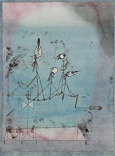 <i>Twittering Machine</i> painting by Paul Klee