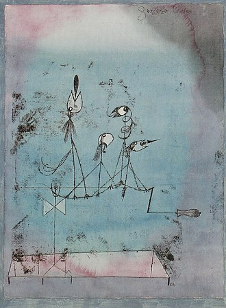 1922 in art - Paul Klee – Twittering Machine (MOMA)