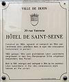 Dijon Hotel de Saint-Seine plaque information.jpg