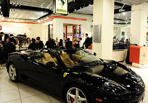 Canadian Foundation for AIDS Research - Bloor Street Entertains guests dining at Ferrari Maserati