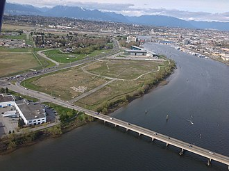 Dinsmore Bridge - Image: Dinsmore Bridge aerial