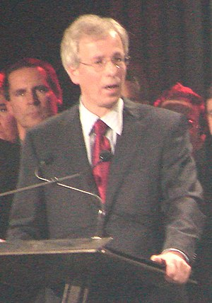 Liberal Party of Canada leadership election, 2006 - Stéphane Dion, making his acceptance speech after winning the party leadership.