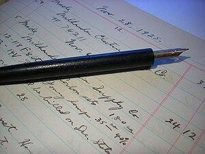 Dip pen - A dip pen