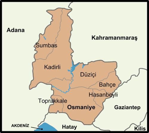 Osmaniye'nin ilçeleri
