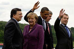 Jose Manuel Barroso, Angela Merkel, Barack Oba...