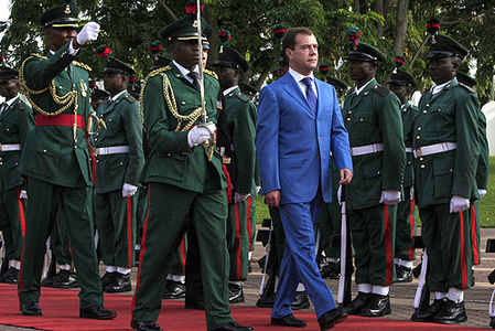 Dmitry Medvedev in Nigeria 24 June 2009-1