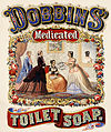 Dobbins' medicated toilet soap, advertising, 1869.jpg