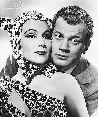 Journey into Fear (1943 film) - Joseph Cotten and Dolores del Río in a promotional photo of the film (1943)