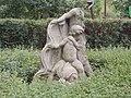 Dolphin Rider Kids statue, Lágymányos Bay Park, 2016 Újbuda.jpg