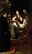 Domenico Fetti - Virgin and Child with Mystical Betrothal of St. Catherine with Saints Dominic and Peter GG 167 HP.jpg