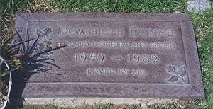 English: Gravestone of Dominique Dunne.