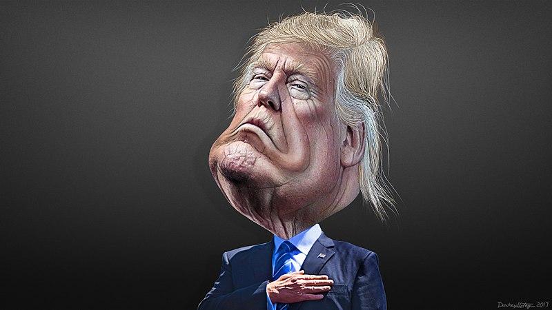 File:Donald Trump - Caricature (34958723394).jpg