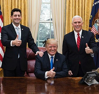 Paul Ryan - Ryan with President Trump and Vice President Mike Pence, December 2017