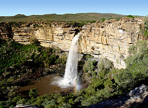 Namaqualand - A waterfall situated a few kilometres north of Nieuwoudtville on the road to Loeriesfontein, in the Northern Cape (Namaqualand region)