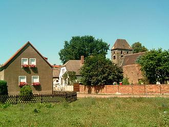 Röcken - Image: Dorfbild von Röcken