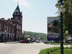 Newport, New Hampshire - Image: Downtown Newport NH2016