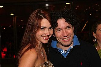 Gustavo Dudamel - Dudamel and his first wife, Eloísa Maturén in 2006
