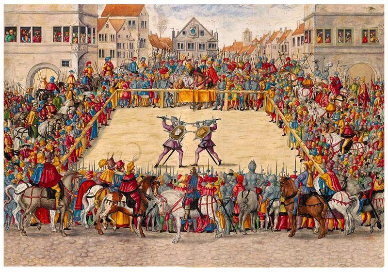 File:Duel judiciaire moyen-age justice medievale.jpg