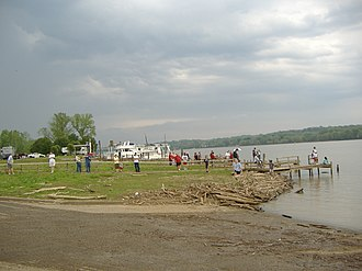 Great Steamboat Race - Spectators of the 2007 Race at Duffy's Landing in Jeffersonville, Indiana.
