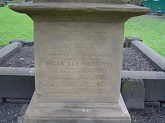 Duncan Ban MacIntyre - Image: Duncan ban mcintyre english