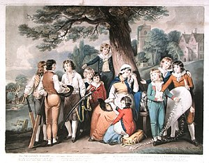 1800 English cricket season - Image: Dunkarton & Ward mezzotint The Soldier's Widow