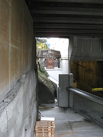 Dunsmuir Tunnel - The former eastern portal used by the Canadian Pacific Railway