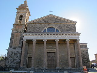 Montalcino Cathedral building in Montalcino, Italy