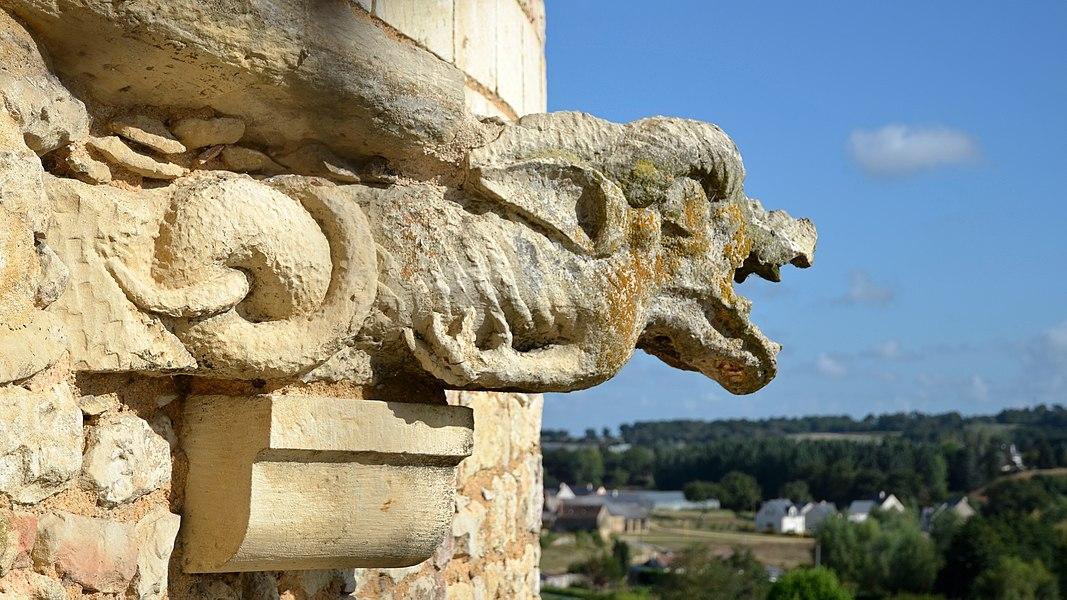 Durtal castle's gargoyle - Maine-et-Loire, France