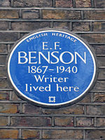 E.F. BENSON 1867-1940 Writer lived here.JPG
