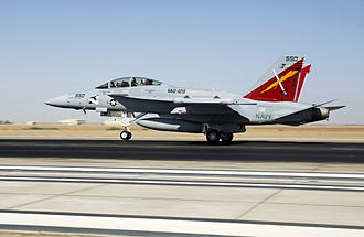 VAQ-129 - An EA-18G Growler of VAQ-129 in October 2008 at NAF El Centro.