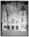 EAST (PRINCIPAL) FRONT - First Presbyterian Church, Church and Nineteenth Streets, Galveston, Galveston County, TX HABS TEX,84-GALV,22-1.tif