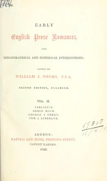 Early English prose romances (Thoms, 1858, v. 2).djvu