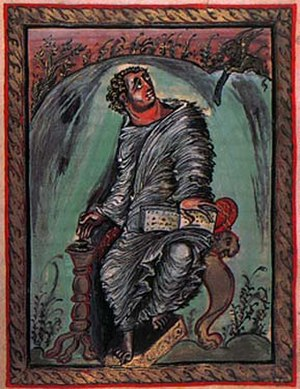 Carolingian art - Saint Mark from the Ebbo Gospels