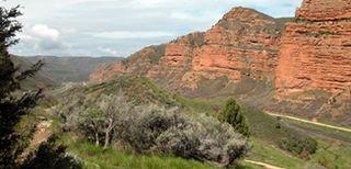 Mormon Trail migrant route from Nauvoo, Illinois, to Salt Lake City, Utah, USA