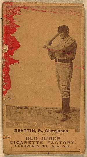 Ed Beatin - Old Judge baseball card of Beatin