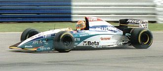 Jordan Grand Prix - Eddie Irvine driving for Jordan at the 1995 British Grand Prix.