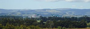 English: The Fonterra dairy factory dominates ...