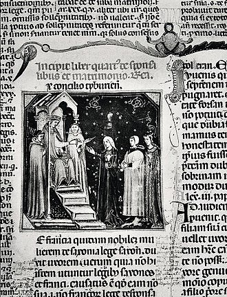 Pope Gregory IX - Edicts of Gregory IX with glosses of Bernardo di Bottone. An example of books burned by the Germans.