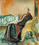 Edvard Munch - Self-Portrait with the Spanish Flu (1919).jpg