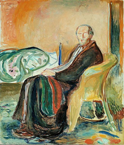 Edvard Munch - Self-Portrait with the Spanish Flu (1919)