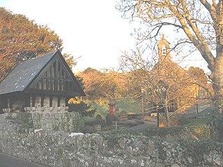 Llangian village in Wales