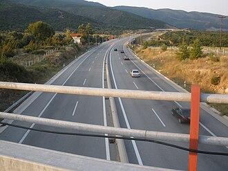 Egnatia Odos (modern road) - Image: Egnatia Odos