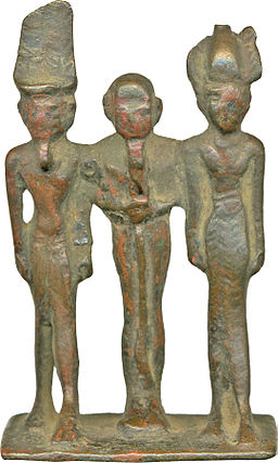 Egyptian - Devine Triad of Amun, Ptah and a Goddess Figure, Probably Hathor - Walters 542300