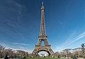 Eiffel Tower from Champ-de-Mars, Paris 5 February 2019.jpg